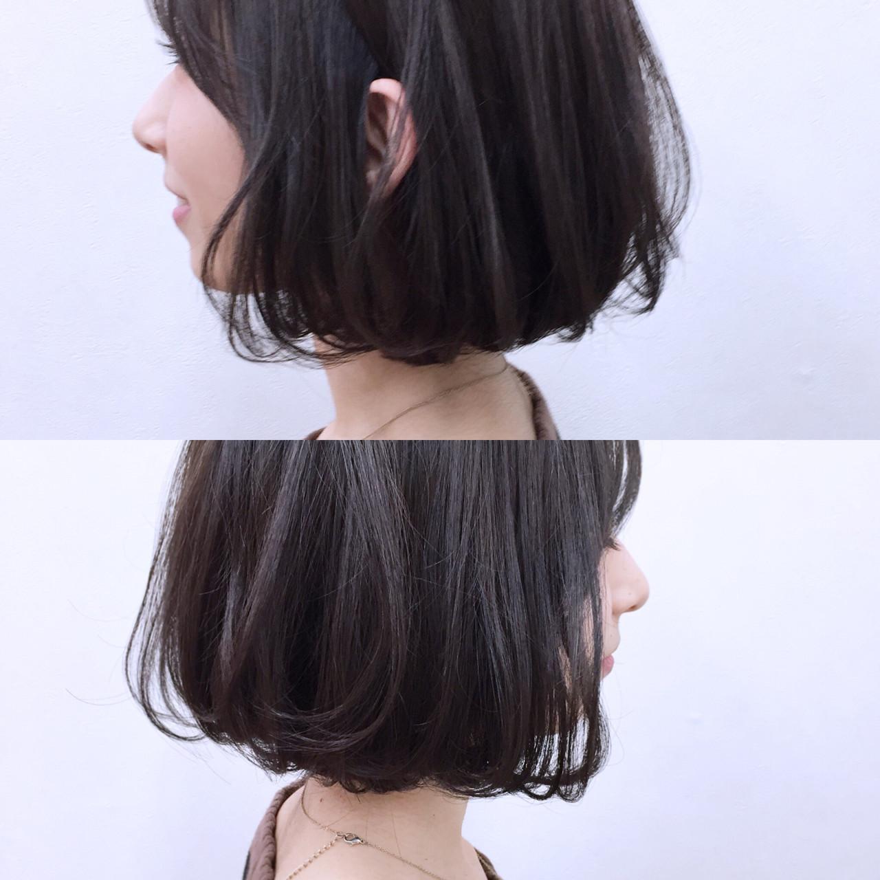 暗髪 ナチュラル 色気 フェミニン ヘアスタイルや髪型の写真・画像 | YSO / 電髪倶楽部street