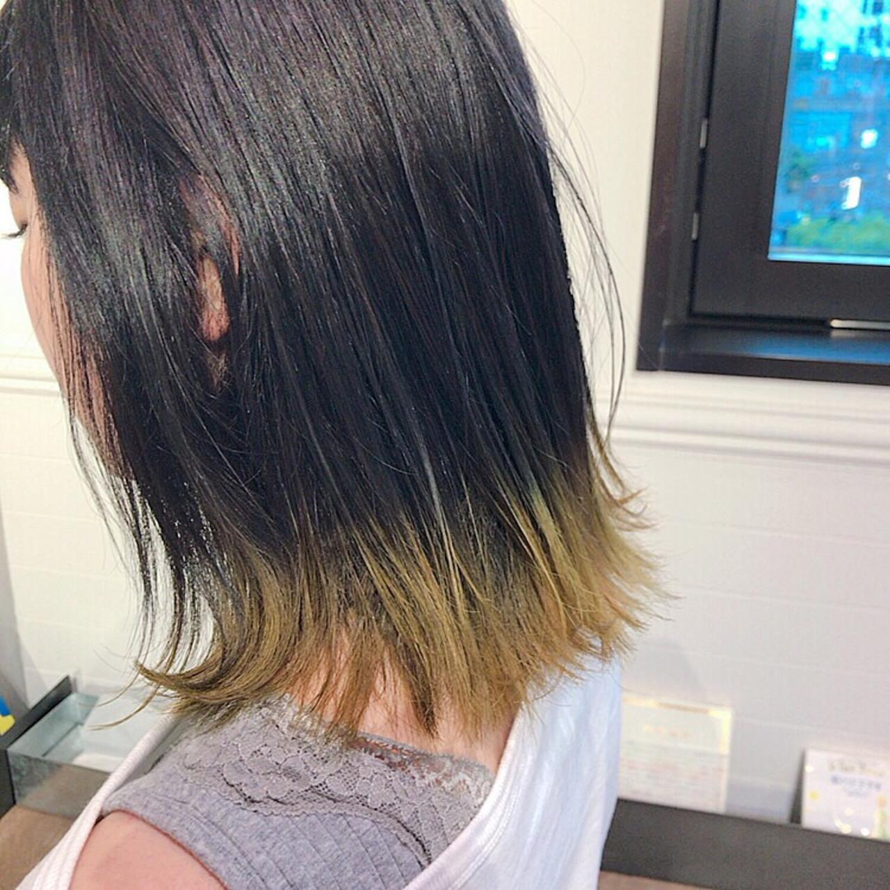 裾カラー アウトドア グラデーションカラー ストリート ヘアスタイルや髪型の写真・画像 | 永澤佑衣 / December