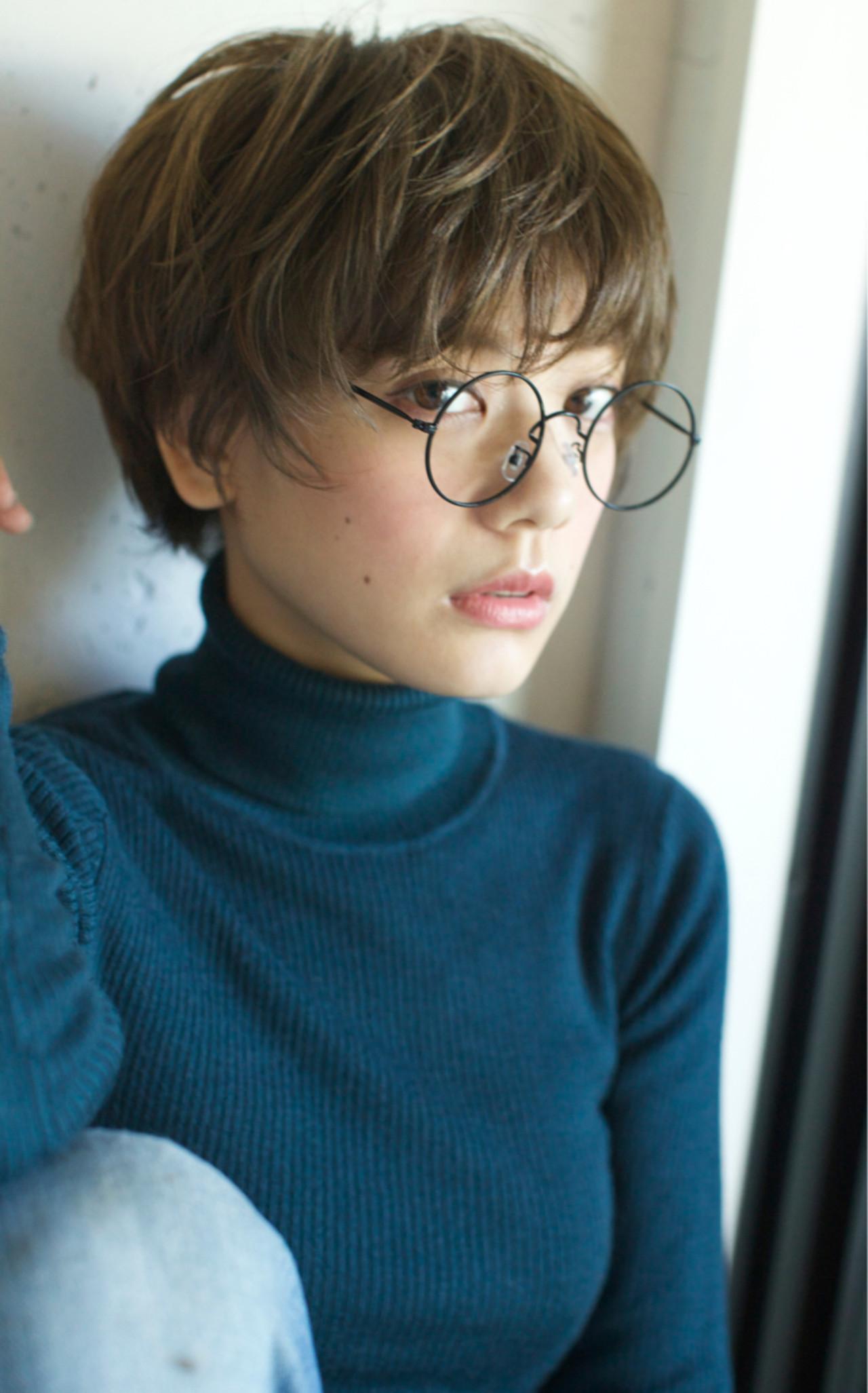 ストリート 外国人風カラー 大人かわいい ショートヘアスタイルや髪型の写真・画像