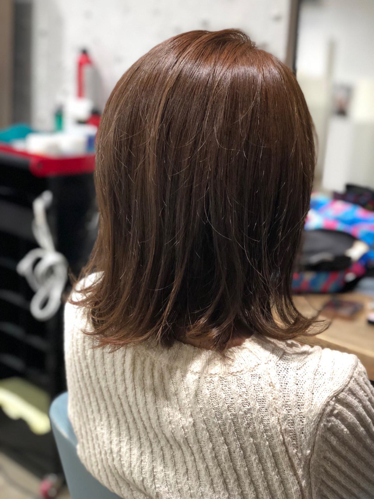 ミディアム アッシュ アッシュグレージュ グレージュ ヘアスタイルや髪型の写真・画像 | Garden Tokyo 河上 / Garden Tokyo