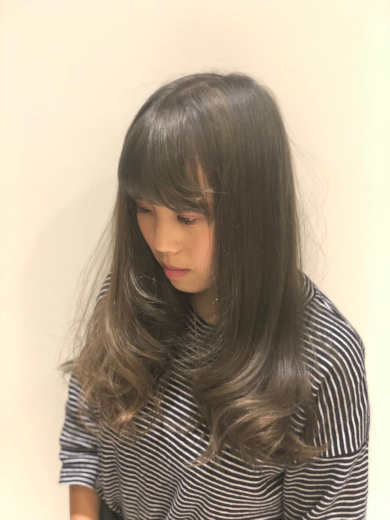 ナチュラル 暗髪 セミロング ヘアアレンジ ヘアスタイルや髪型の写真・画像 | Akira Koikeda / earth 北小金