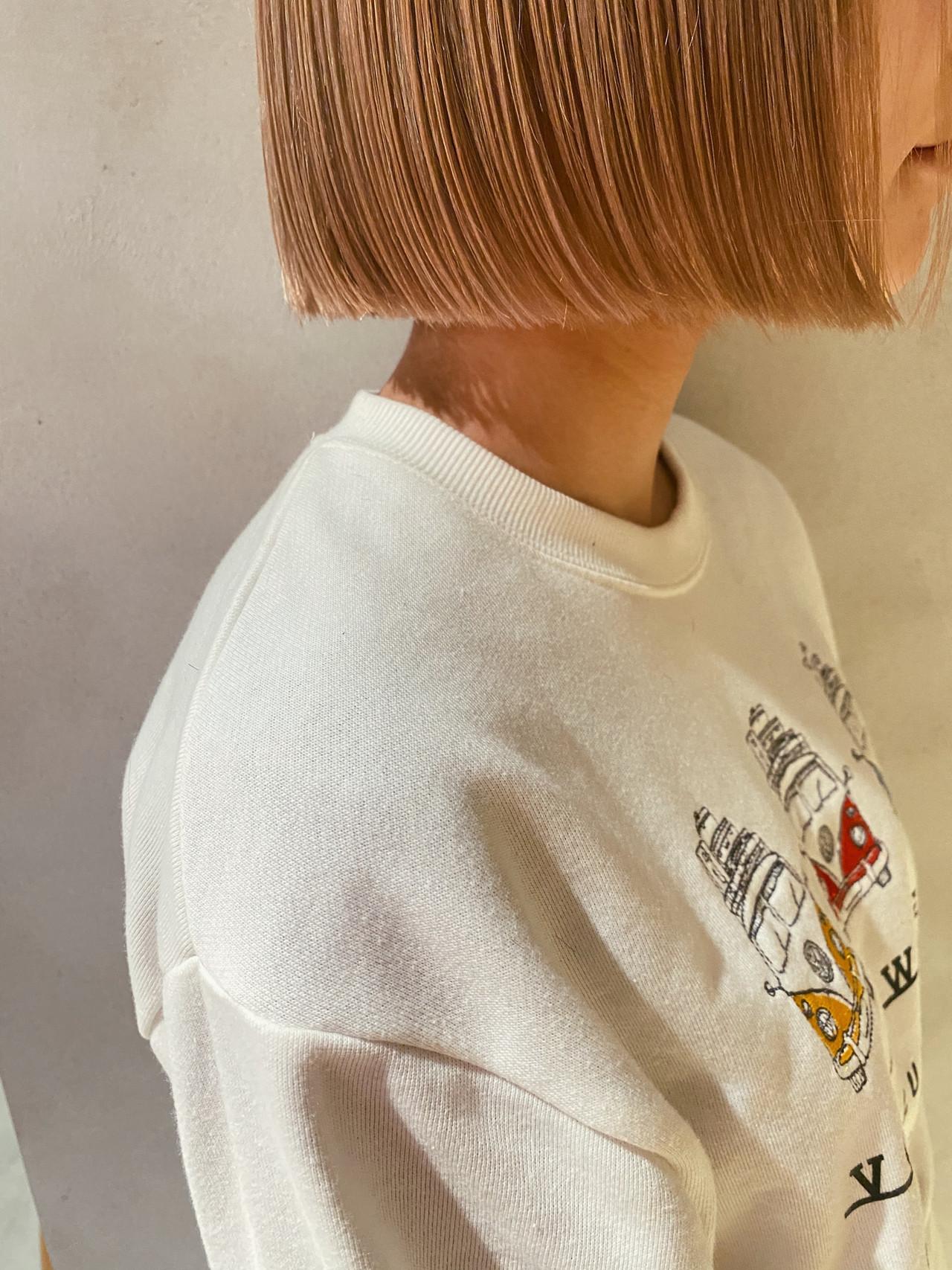 切りっぱなしボブ ボブ 外ハネボブ モテボブ ヘアスタイルや髪型の写真・画像   星野 将 / salon IVY