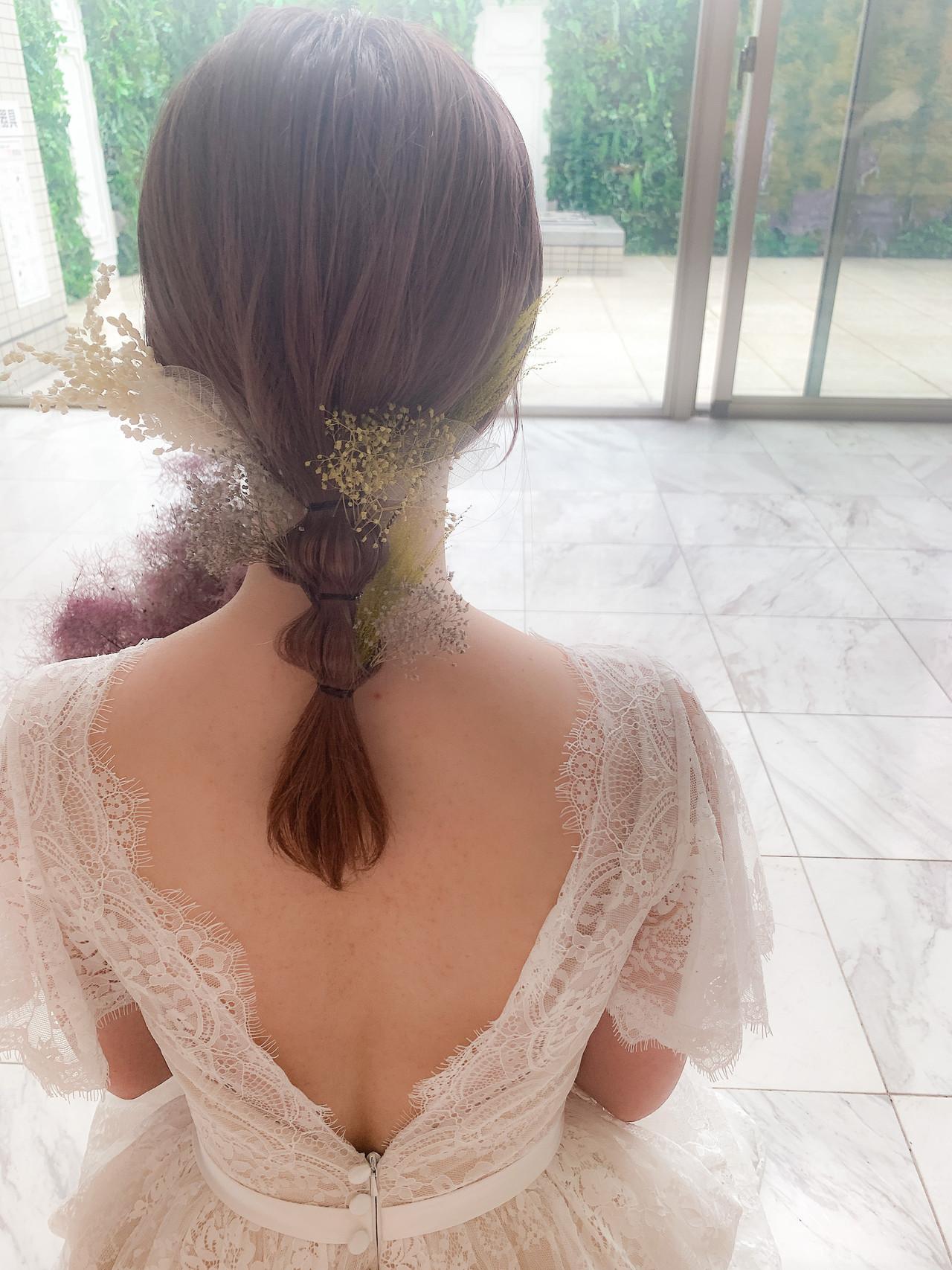 簡単ヘアアレンジ ゆるふわ ヘアアレンジ 切りっぱなしボブ ヘアスタイルや髪型の写真・画像   yumiko/sapporoSKNOW / SKNOW