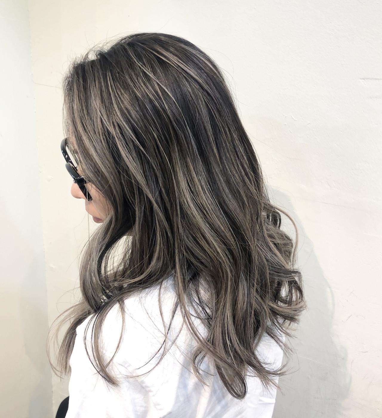 バレイヤージュ ハイライト インナーカラー ナチュラル ヘアスタイルや髪型の写真・画像 | RUMINA //高田ゆみこ / Rumina
