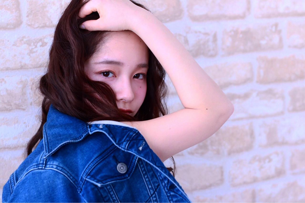 黒髪 ナチュラル ゆるふわ 抜け感 ヘアスタイルや髪型の写真・画像 | 定野 桃子 /