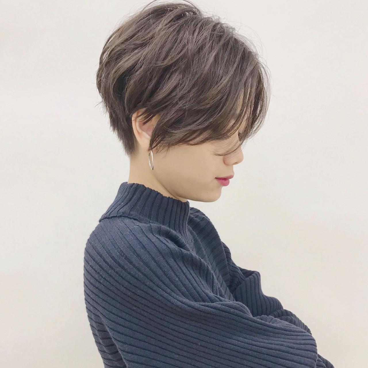 スポーツ ショート 黒髪 パーマ ヘアスタイルや髪型の写真・画像 | ショートヘア美容師 #ナカイヒロキ / 『send by HAIR』