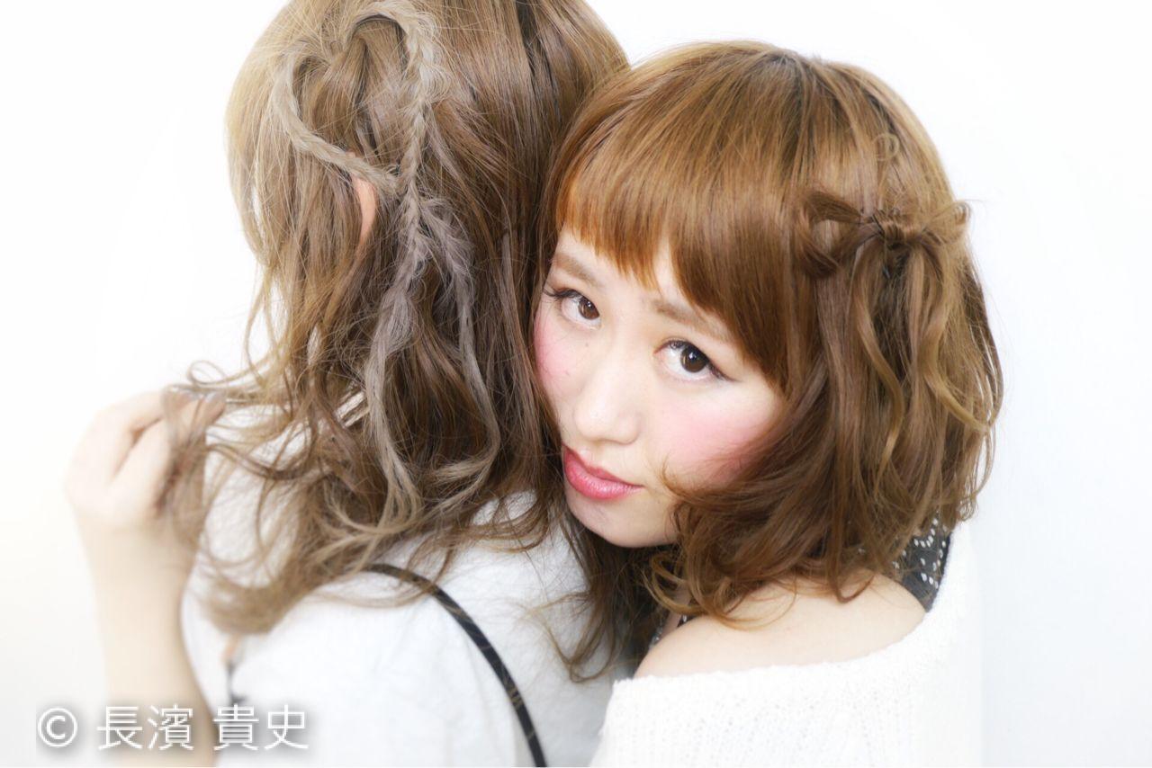 モテ髪 コンサバ ショート ゆるふわ ヘアスタイルや髪型の写真・画像 | 長濱 貴史 / Orange*