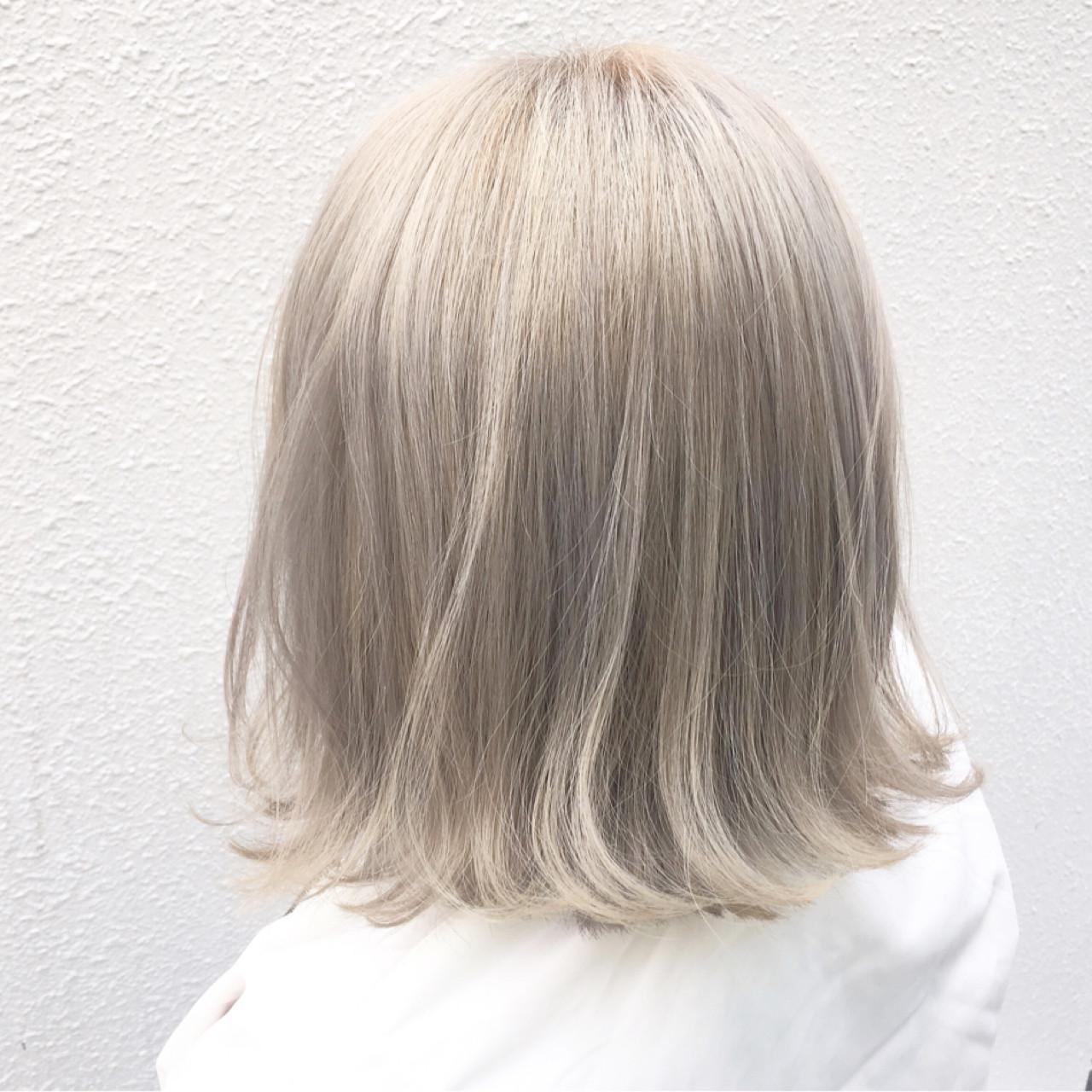 ハイトーン ボブ ストリート ダブルカラー ヘアスタイルや髪型の写真・画像 | イッシキ ケンタ / lafamilia
