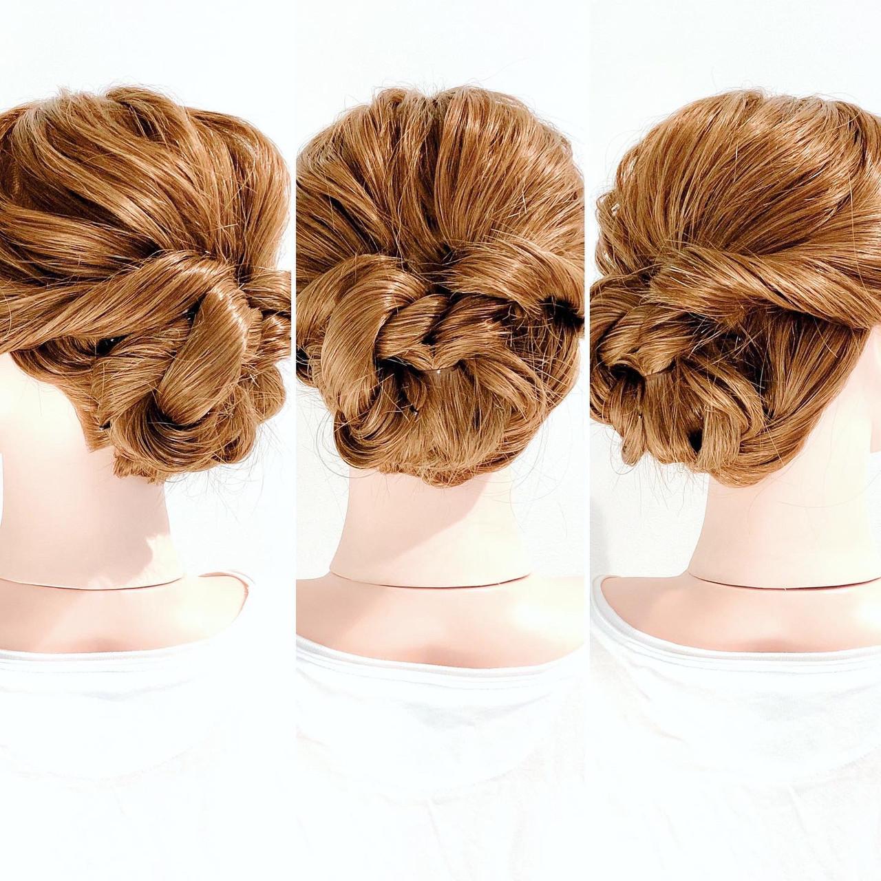 くるりんぱ まとめ髪 ヘアアレンジ ロング ヘアスタイルや髪型の写真・画像 | 美容師HIRO/Amoute代表 / Amoute/アムティ