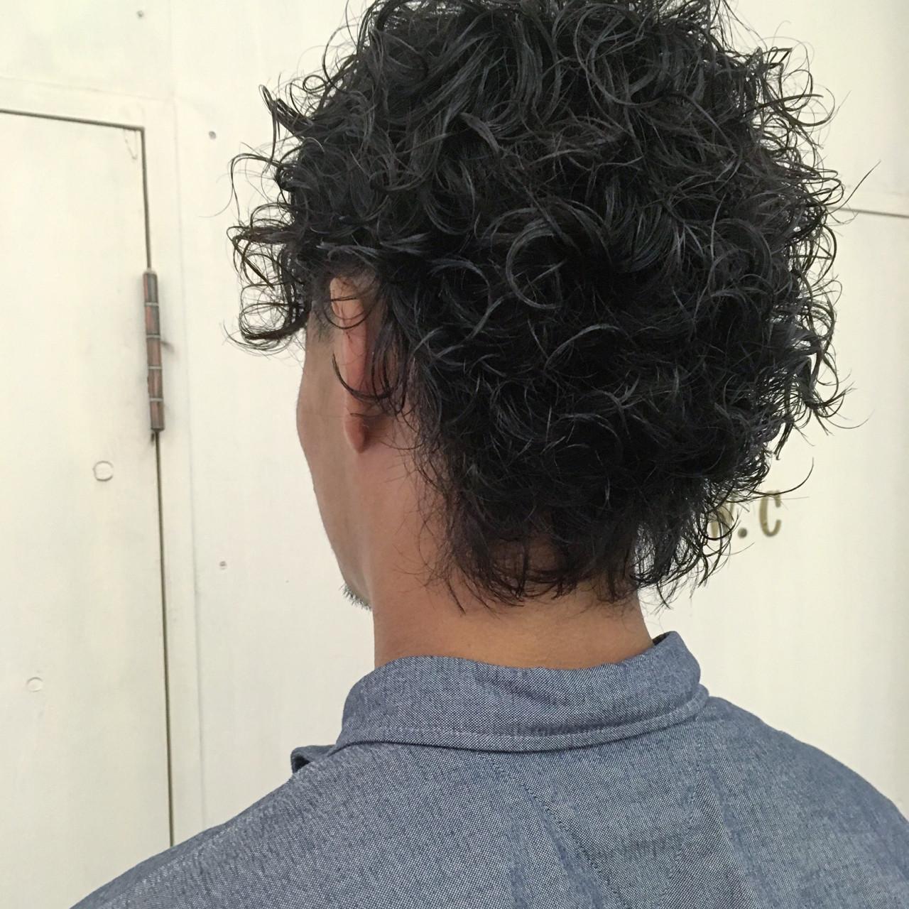 パーマ ボーイッシュ ストリート ショートヘアスタイルや髪型の写真・画像