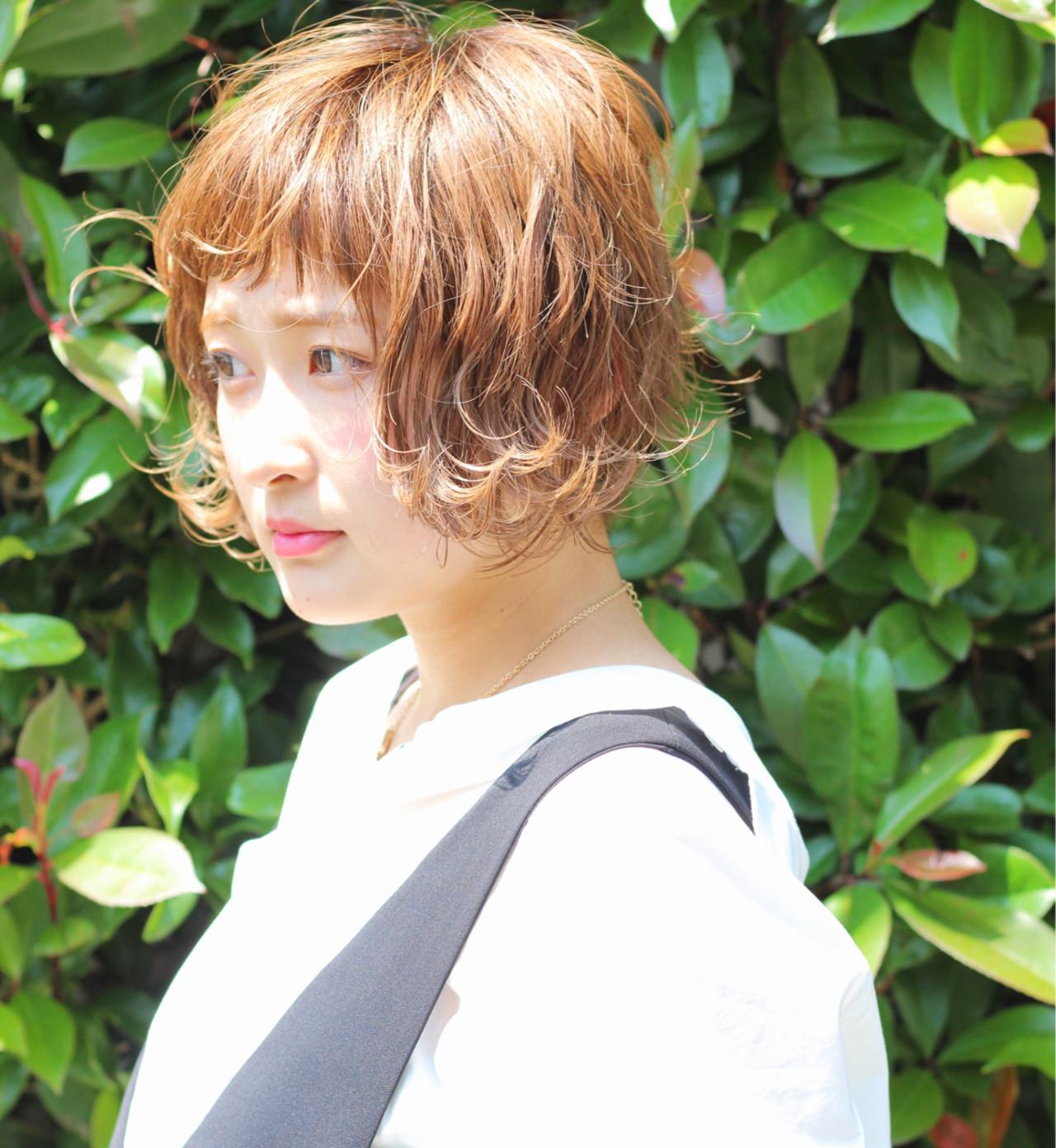ショート ナチュラル オン眉 ボブ ヘアスタイルや髪型の写真・画像 | Wataru Maeda / cache cache