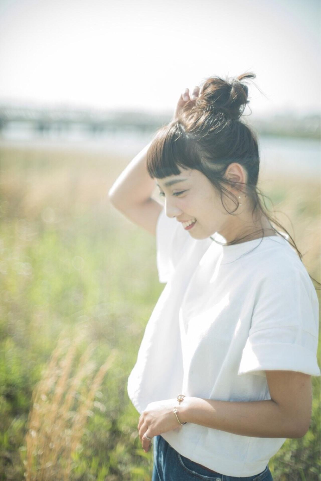 ロング ショート デート 簡単ヘアアレンジ ヘアスタイルや髪型の写真・画像   Obayashi Natsumi /