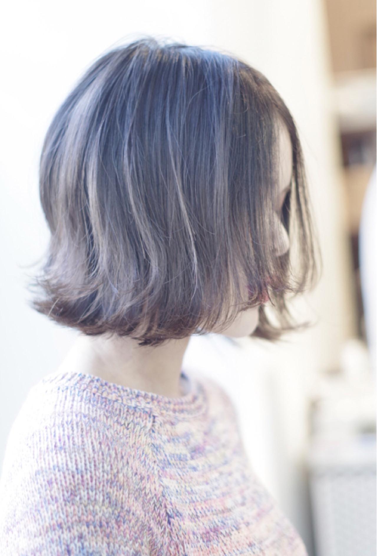 ボブ ハイトーン かわいい 大人女子 ヘアスタイルや髪型の写真・画像 | ken / sora