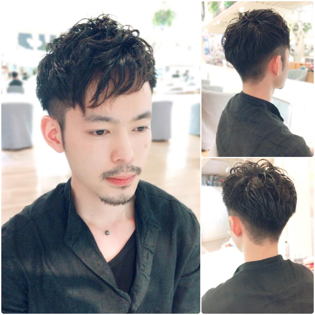 ショート ボーイッシュ 刈り上げ パーマヘアスタイルや髪型の写真・画像