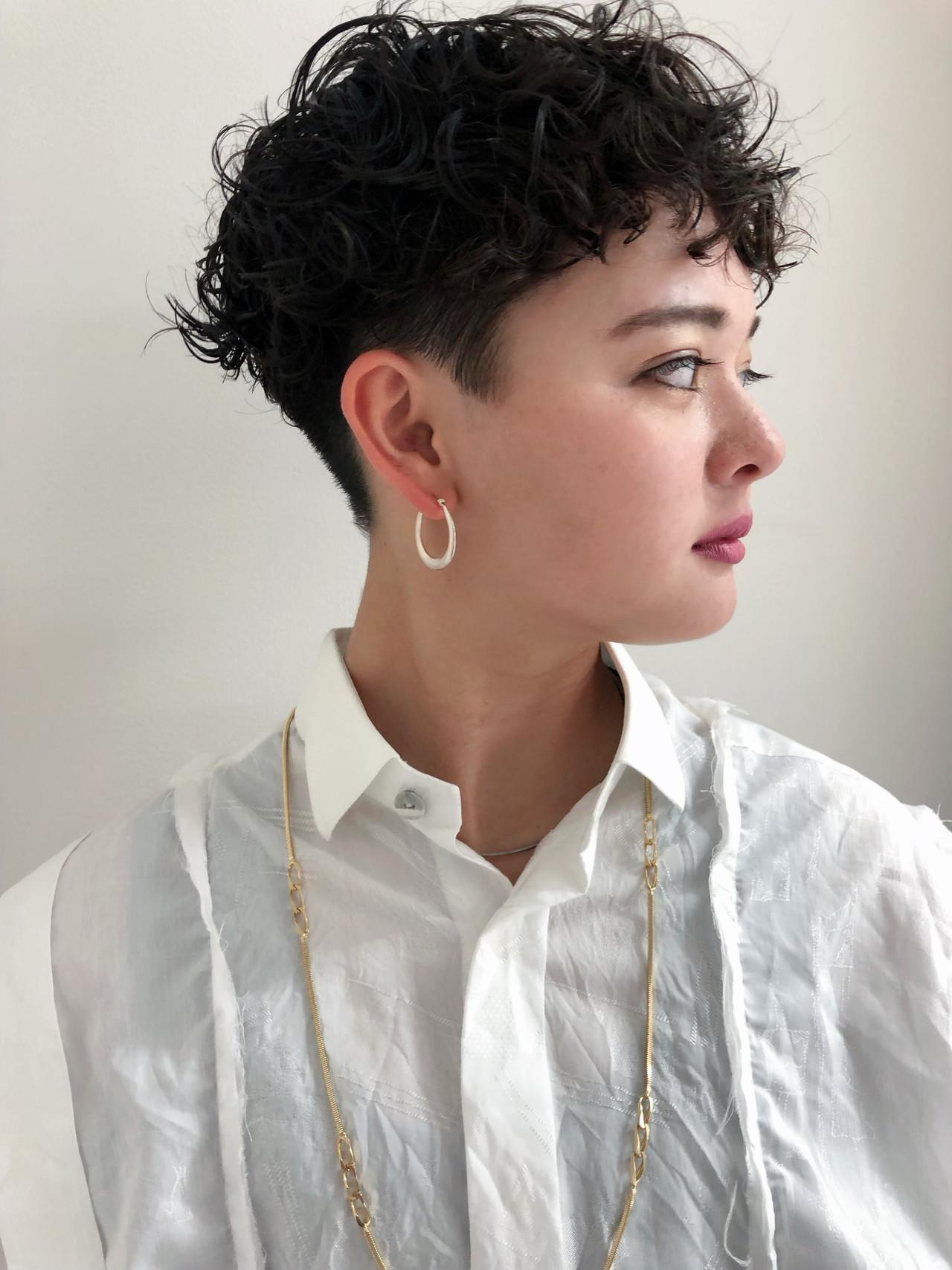 ショート ナチュラル 刈り上げショート 刈り上げ女子 ヘアスタイルや髪型の写真・画像 | 栗原貴史 PEEK-A-BOO / PEEK-A-BOO NEWoMan 新宿