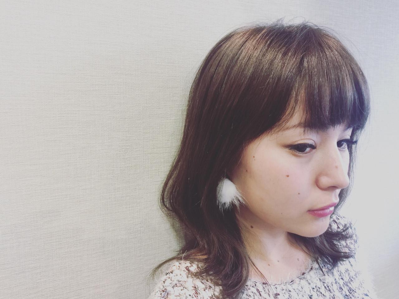 外国人風 大人かわいい フェミニン セミロング ヘアスタイルや髪型の写真・画像 | mika / anteprima