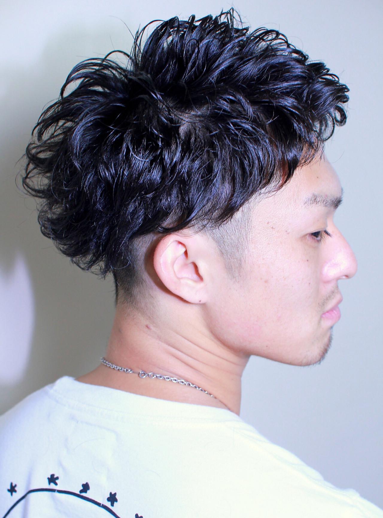 メンズ パーマ 坊主 ストリート ヘアスタイルや髪型の写真・画像 | 鈴木 祐太 / BLITZ R-EVOLUT