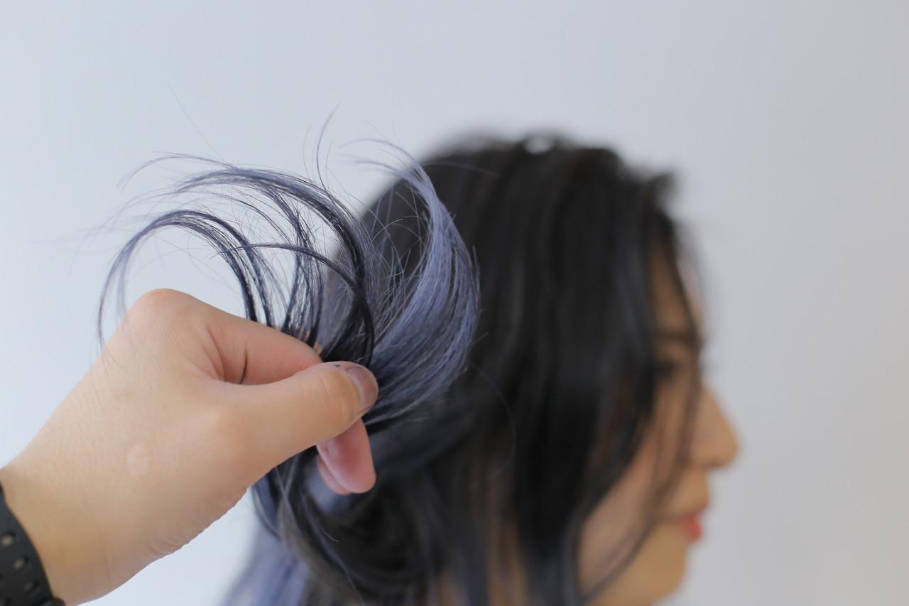 透明感カラー デザインカラー セミロング 外国人風カラー ヘアスタイルや髪型の写真・画像 | 白石侑 / TWiGGY歩行町店