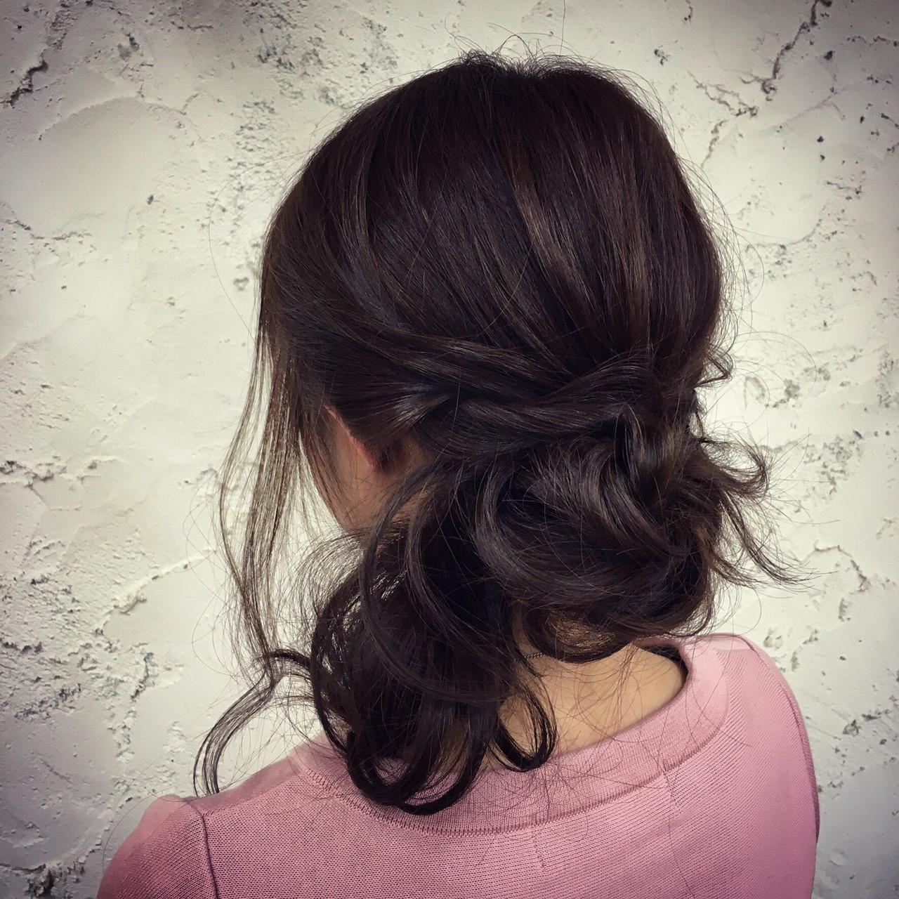 ナチュラル 簡単ヘアアレンジ モテ髪 愛され ヘアスタイルや髪型の写真・画像 | Fujimoto Kazuhito / hair resort Lino
