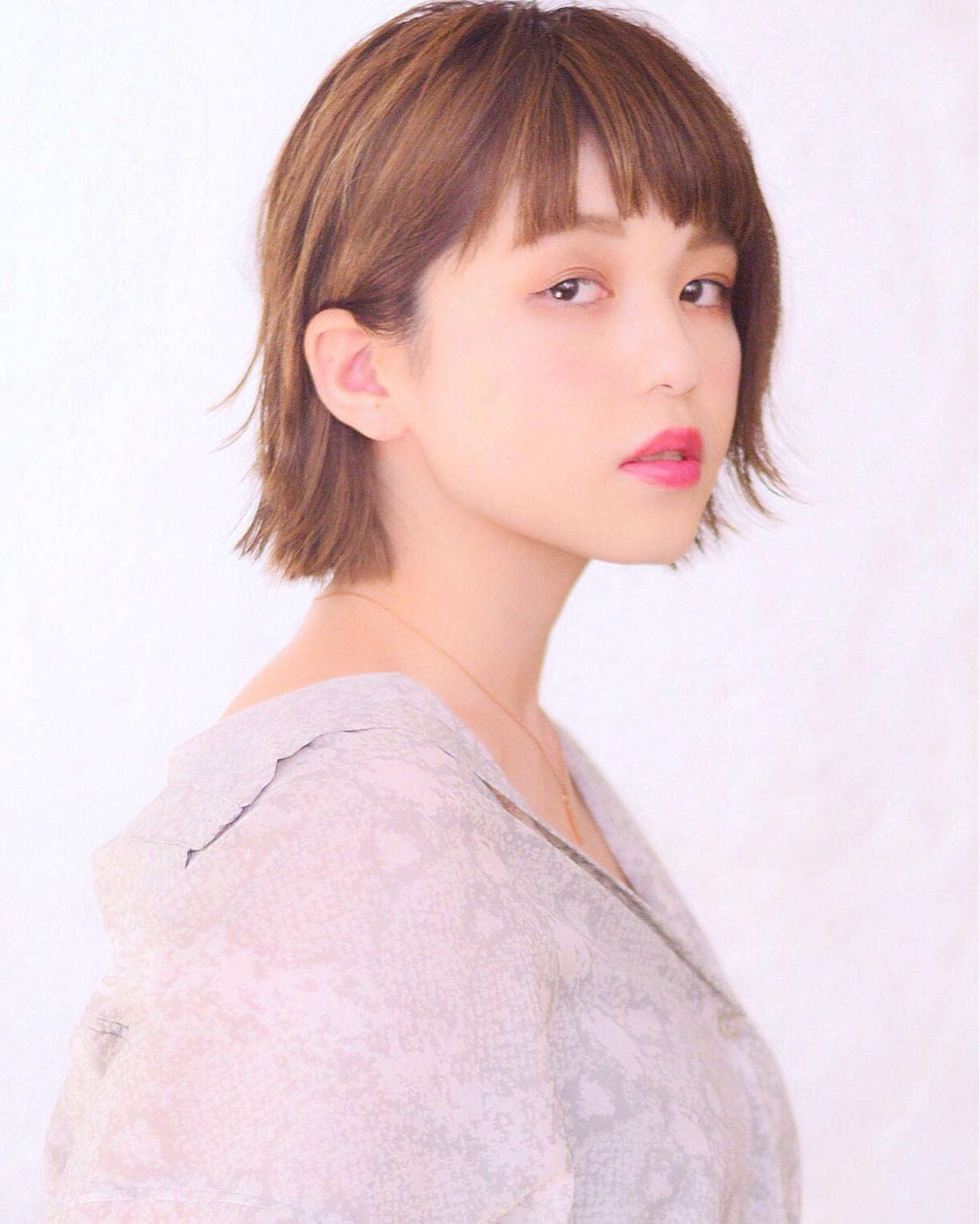ショート 秋 女子力 ショートボブヘアスタイルや髪型の写真・画像