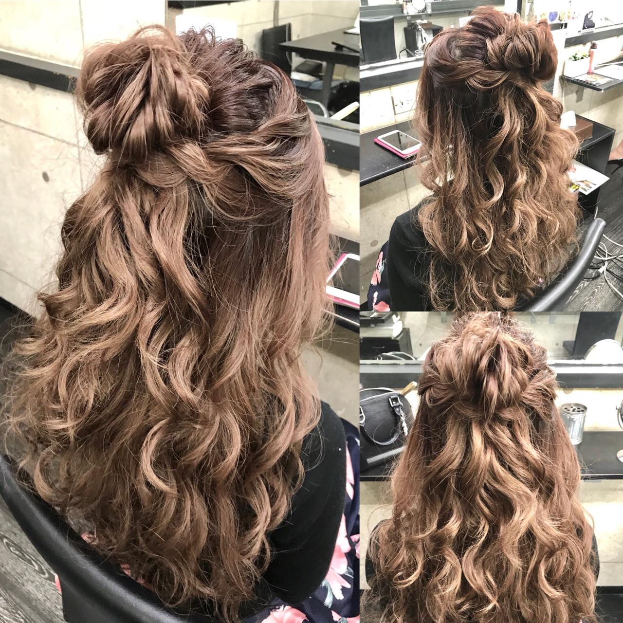 ヘアアレンジ ガーリー ショート ロング ヘアスタイルや髪型の写真・画像 | Hironobu Nakae / Revier