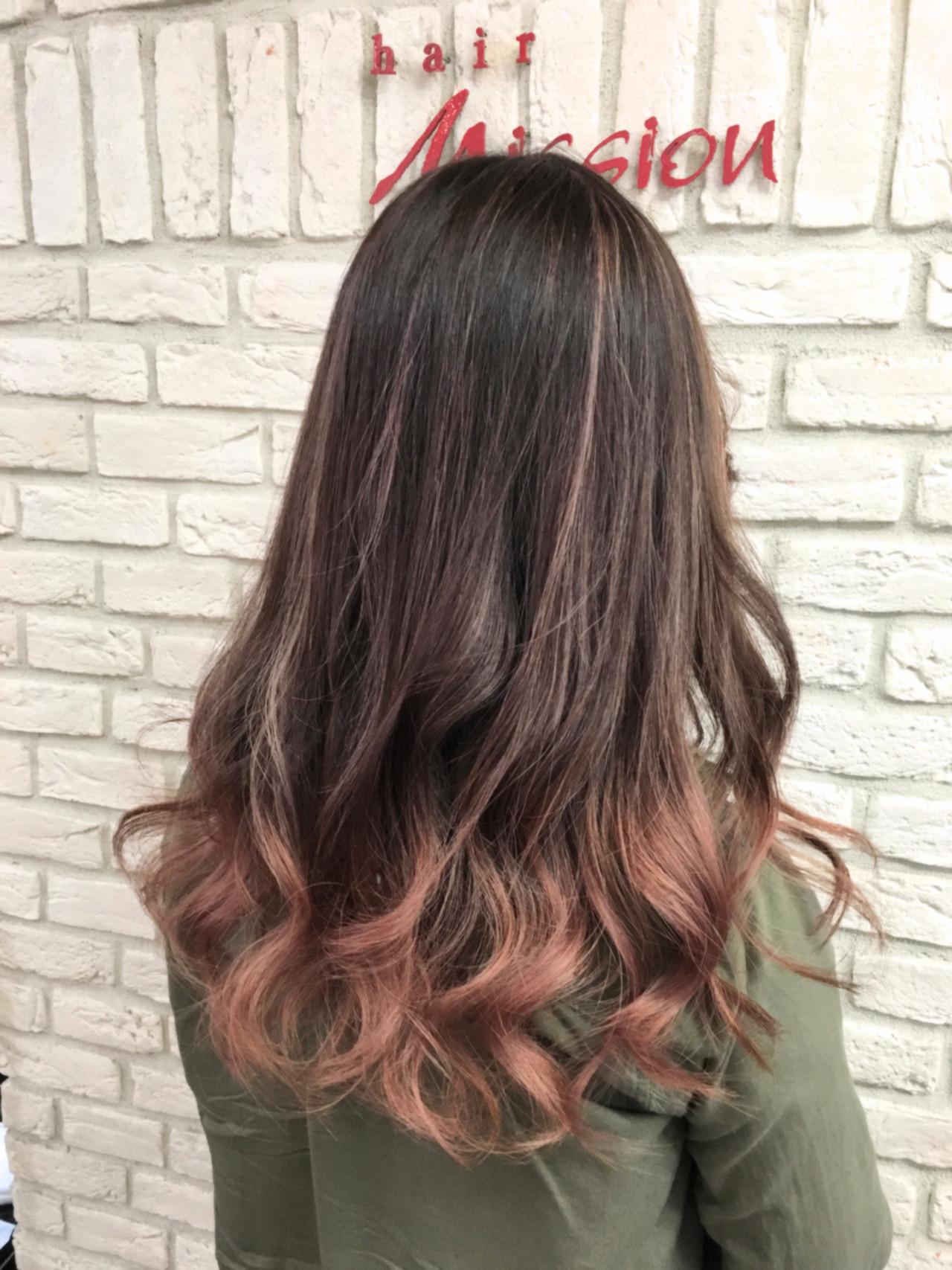 ハイライト 外国人風 ピンク グレージュヘアスタイルや髪型の写真・画像