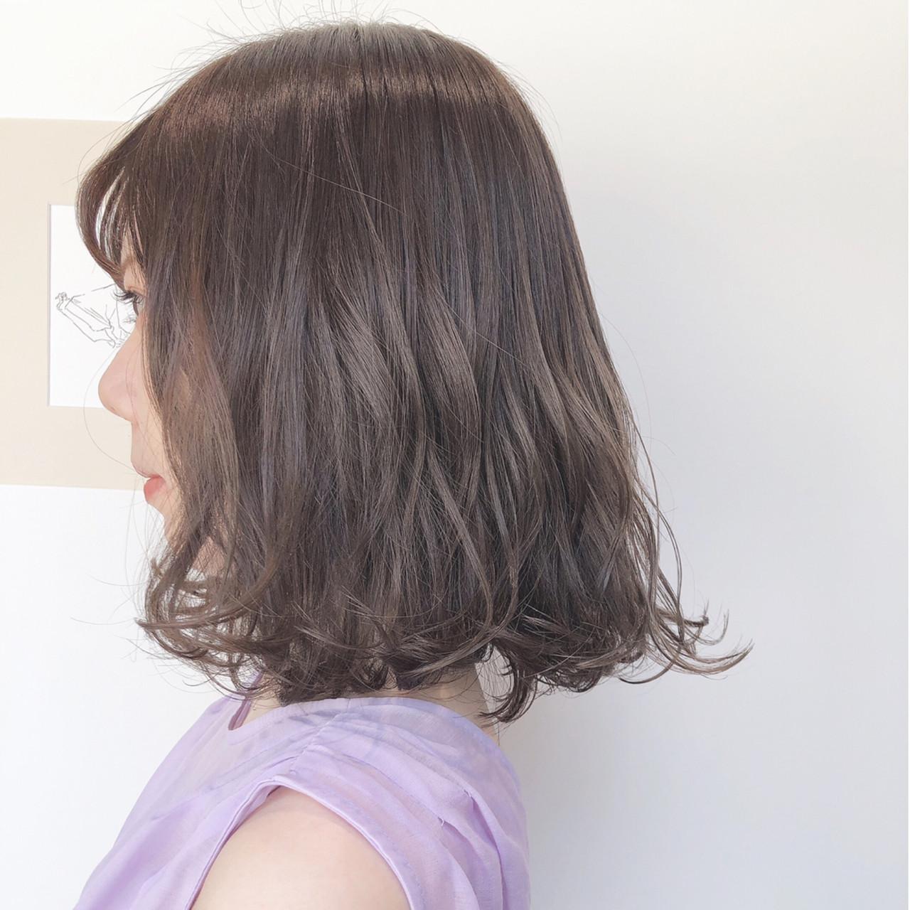 ナチュラル 簡単ヘアアレンジ ボブ ミルクティーベージュ ヘアスタイルや髪型の写真・画像 | 上田智久 / ooit 福岡 天神 / ooit