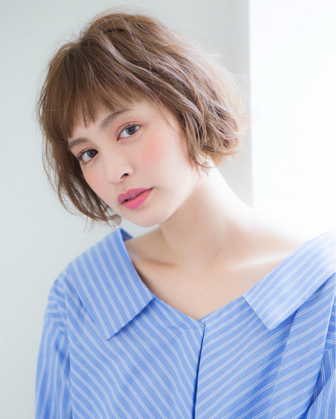 前髪あり インナーカラー パーマ ボブ ヘアスタイルや髪型の写真・画像 | 赤井希望 / joemibyUnami