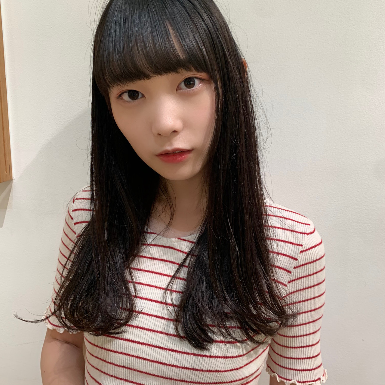 簡単スタイリング ロング 縮毛矯正 大人可愛い ヘアスタイルや髪型の写真・画像