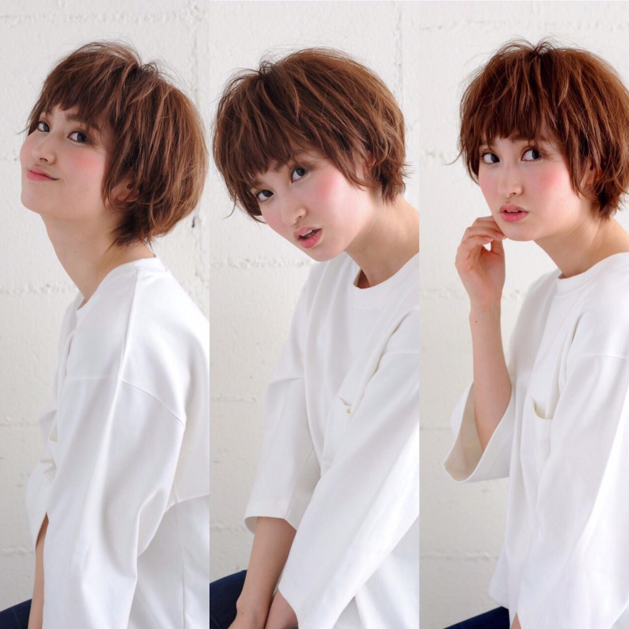 外国人風 ショート 外ハネ ゆるふわ ヘアスタイルや髪型の写真・画像 | Kentaro Kuwata / adams bella