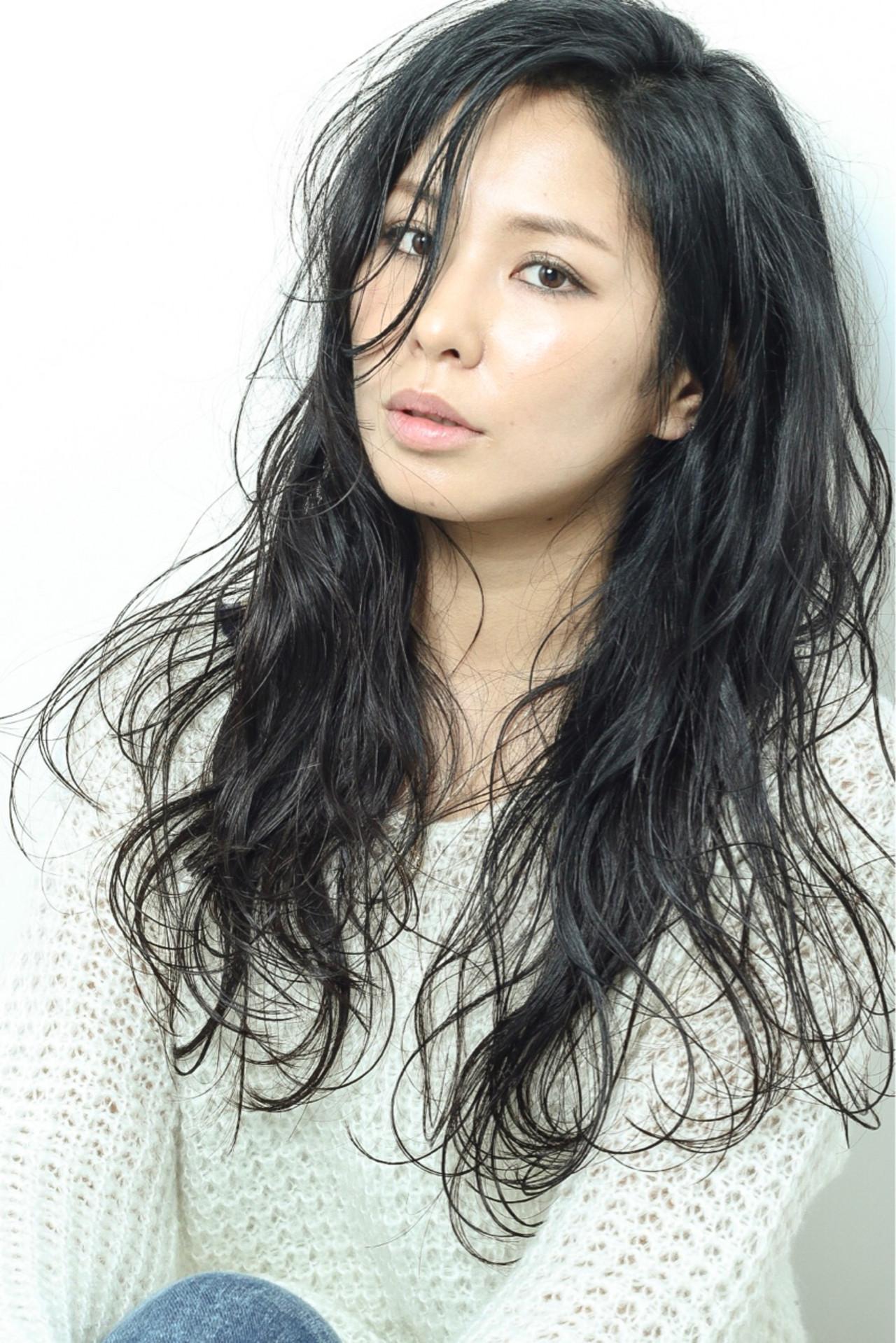 黒髪 大人女子 ボーイッシュ フェミニン ヘアスタイルや髪型の写真・画像 | 松永瑞樹 / Ash浜田山