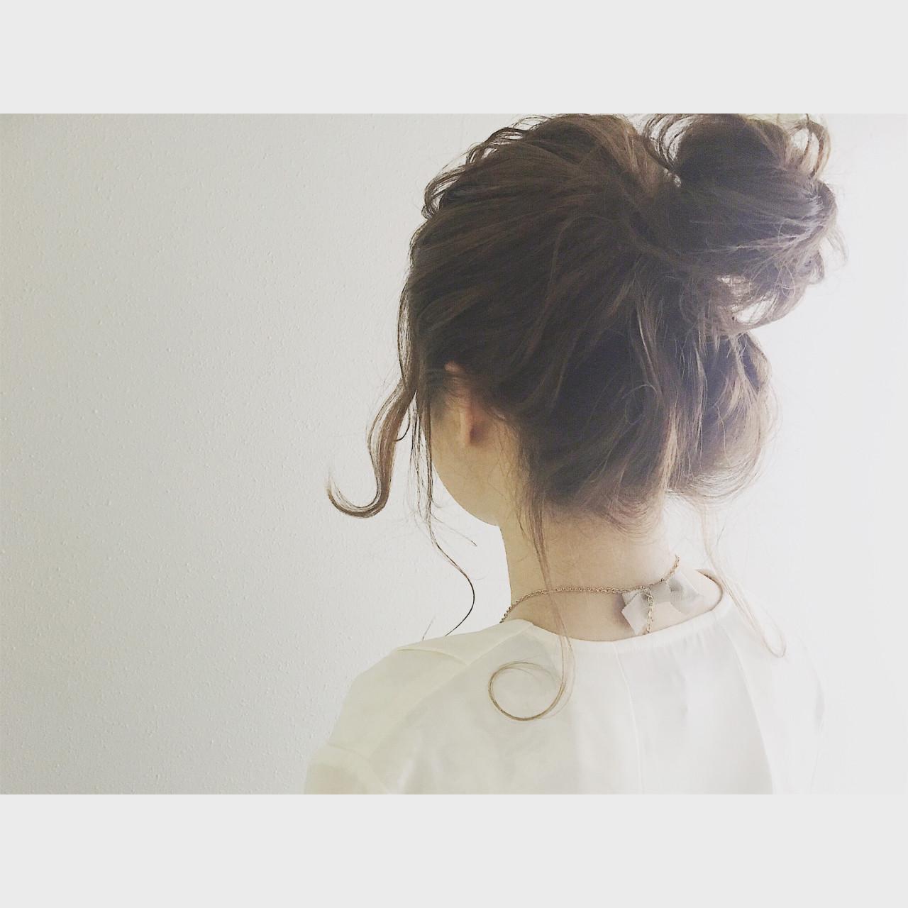 セミロング ショート ゆるふわ お団子 ヘアスタイルや髪型の写真・画像 | 廣長 毅 / Lull/ vampdiva