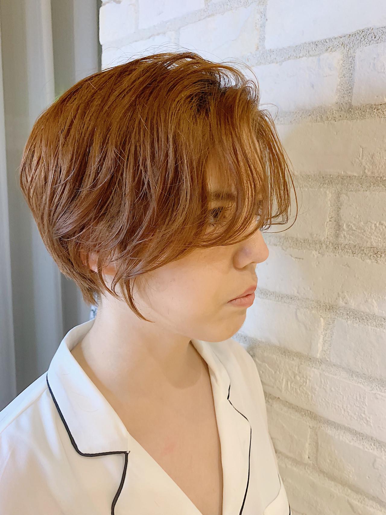 オフィス ショートボブ ナチュラル ショートヘア ヘアスタイルや髪型の写真・画像   ショート ボブ/ 早田卓矢 / cocona hair maison+