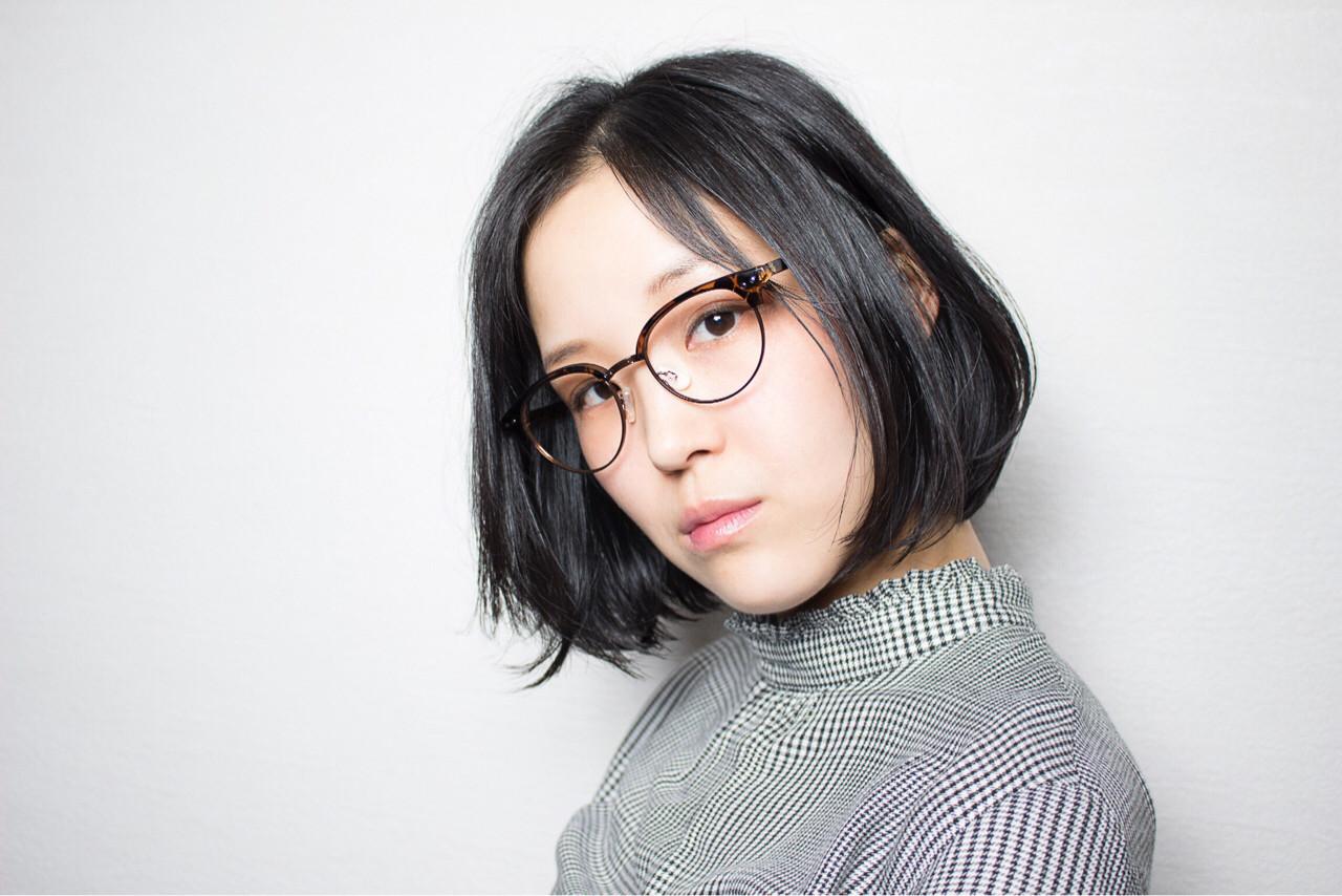 黒髪 ショートボブ ナチュラル ゆるふわ ヘアスタイルや髪型の写真・画像 | 渡辺 貴明 / 5 Five