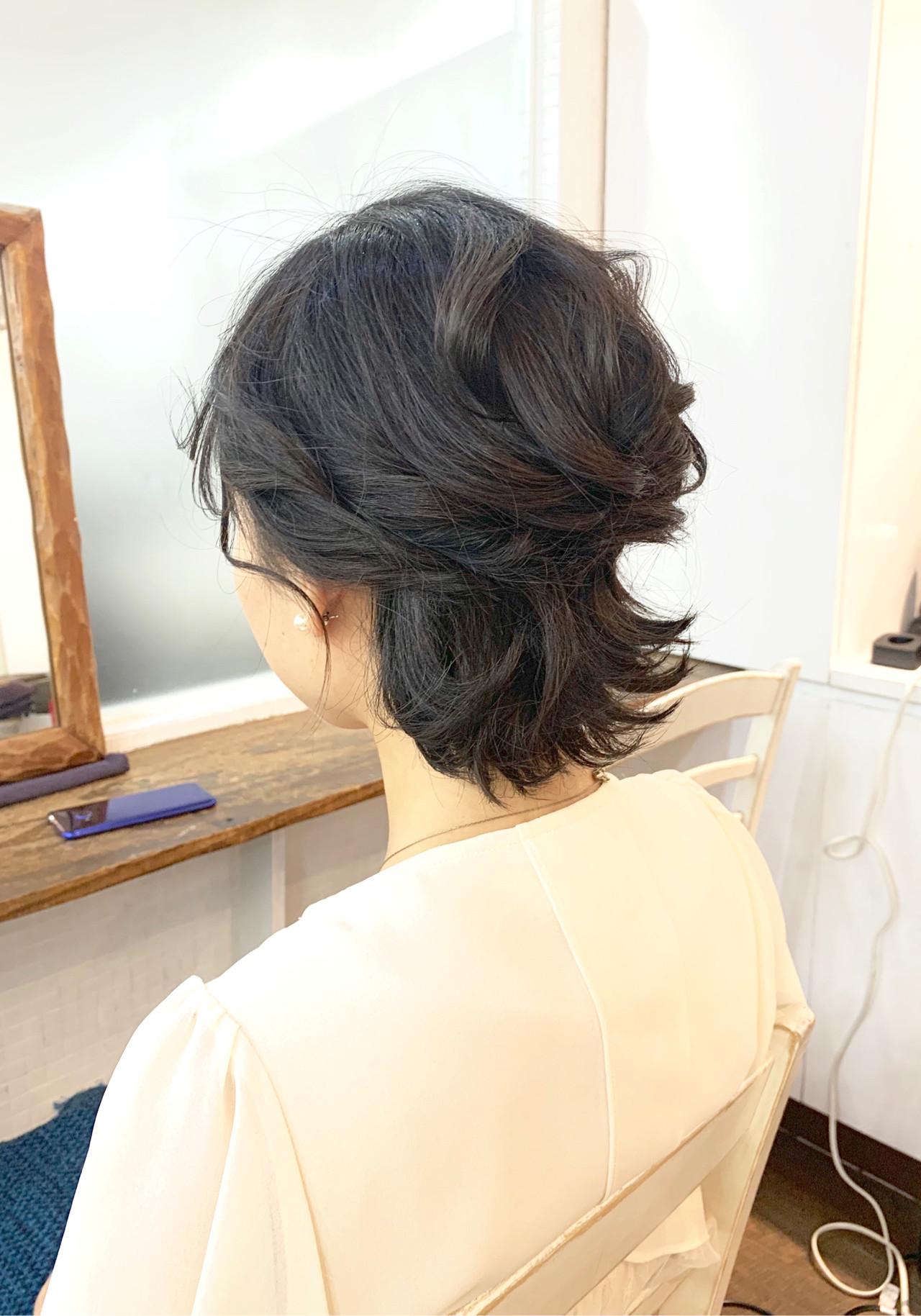ハーフアップ ナチュラル ラフ 結婚式 ヘアスタイルや髪型の写真・画像 | Chie Ogusu / Hair and Make Chie Ogusu