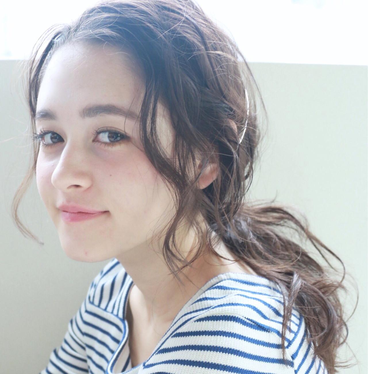 大人かわいい 簡単ヘアアレンジ ショート セミロング ヘアスタイルや髪型の写真・画像   高橋 忍 / nanuk渋谷店(ナヌーク)
