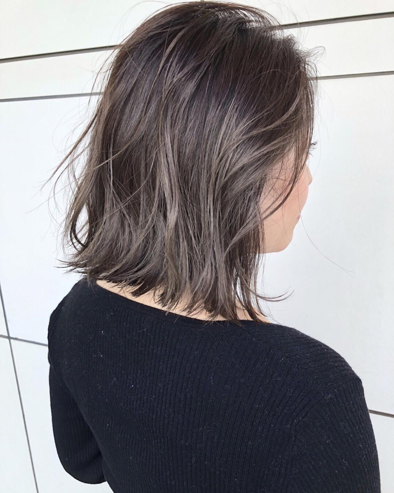 ミディアム 大人かわいい 外国人風 ナチュラルヘアスタイルや髪型の写真・画像