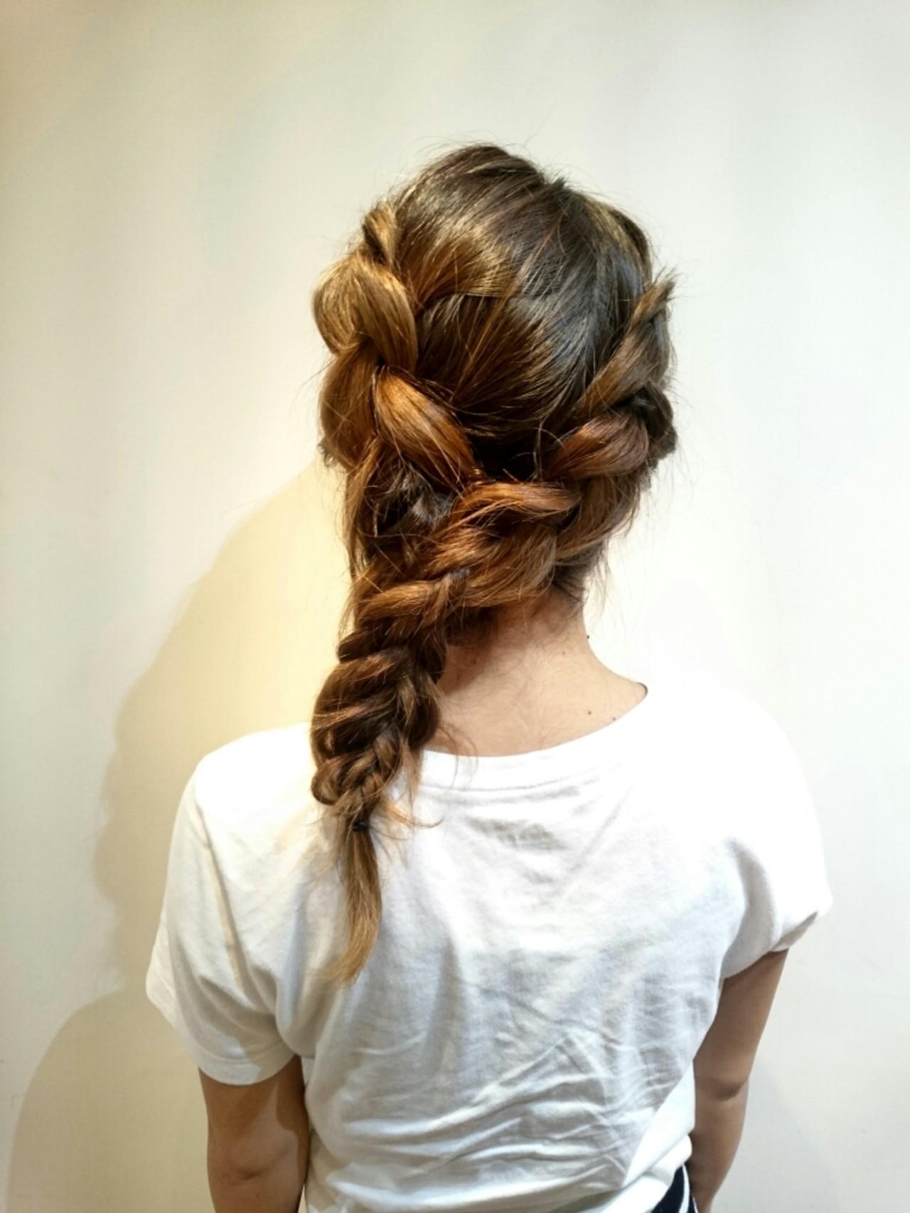 ロング ヘアアレンジ 大人かわいい 簡単ヘアアレンジ ヘアスタイルや髪型の写真・画像 | まりえ / 花やの前の美容室