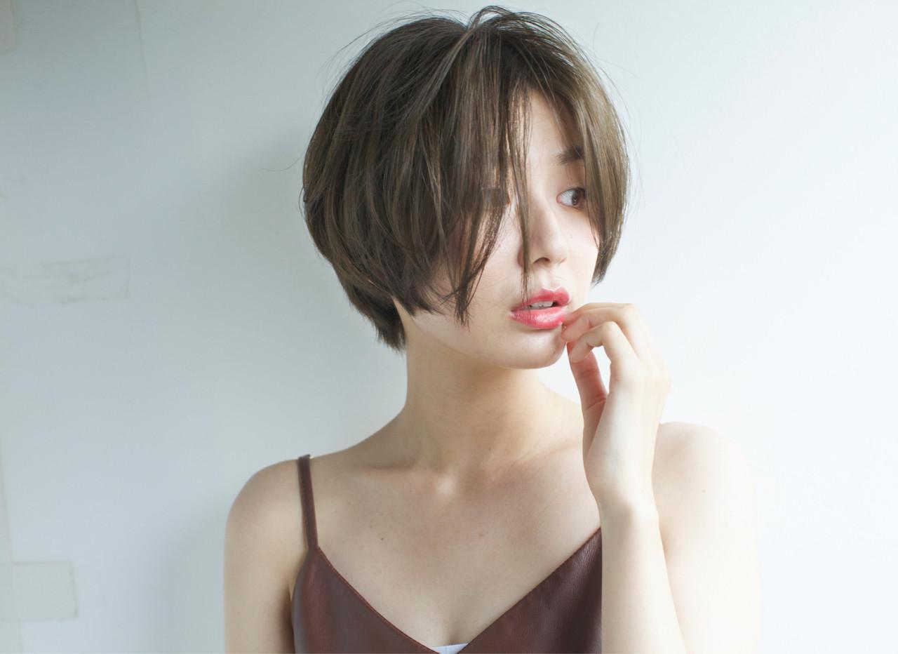 ショート 外国人風 大人かわいい ピュアヘアスタイルや髪型の写真・画像