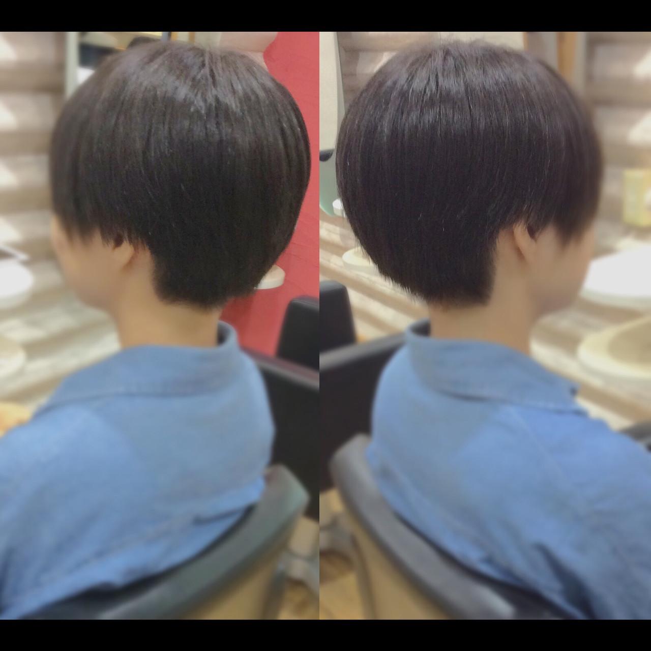 ナチュラル ショート ショートボブ ショートヘアヘアスタイルや髪型の写真・画像