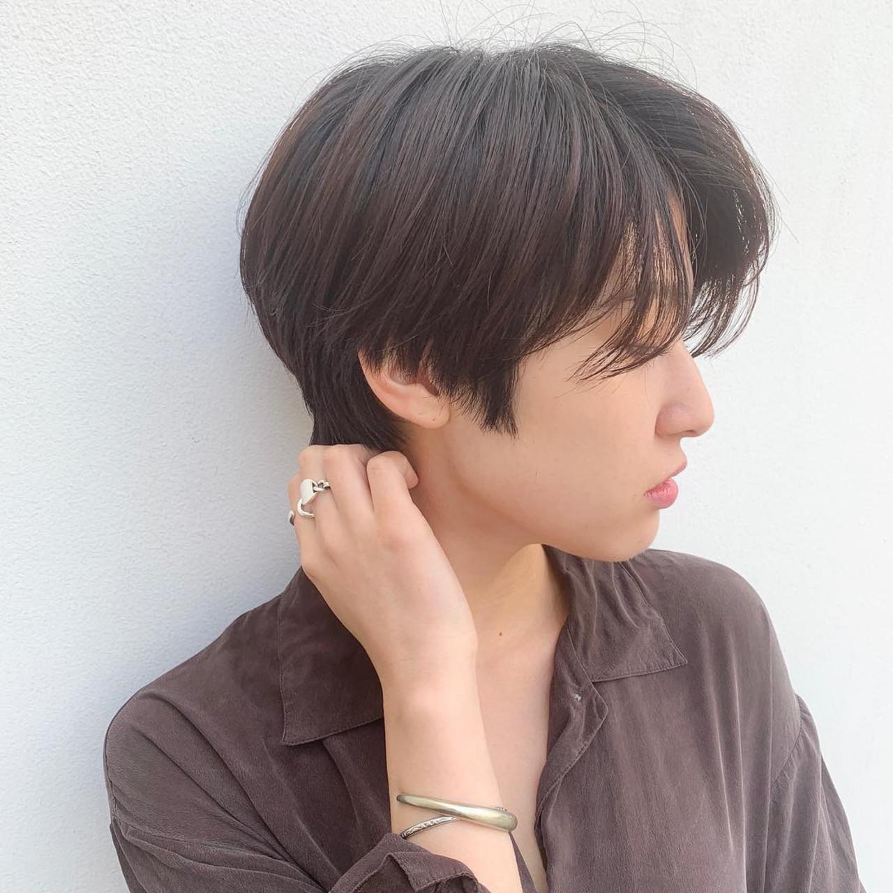 ナチュラル 小顔ショート デート ハンサムショート ヘアスタイルや髪型の写真・画像 | YUKA navile omotesando / navile omotesando