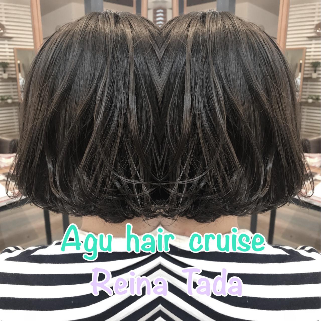 ナチュラル バレイヤージュ アッシュ 透明感 ヘアスタイルや髪型の写真・画像 | 多田 令奈 / AUBE  hair  licht