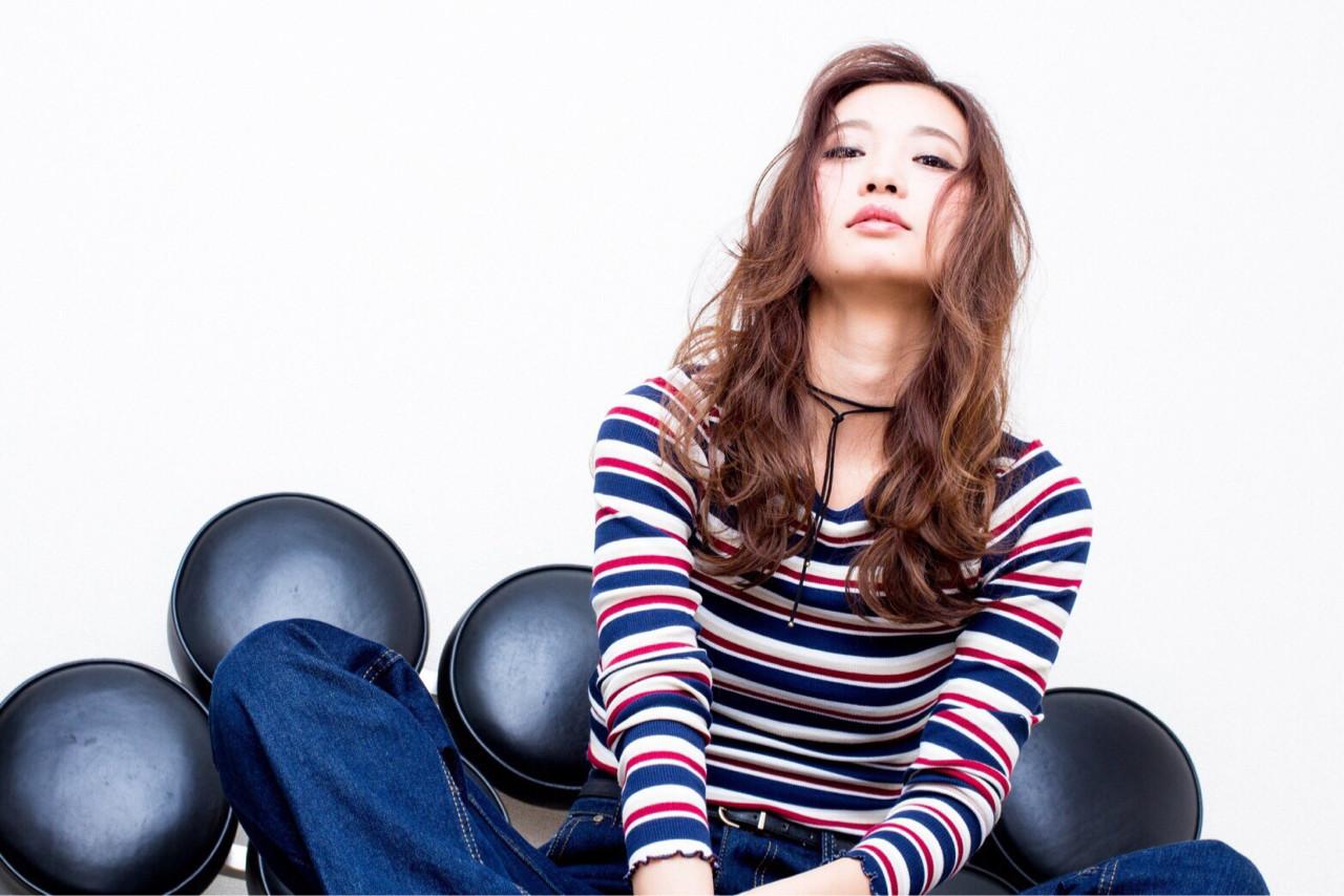 セミロング モード 抜け感 大人かわいい ヘアスタイルや髪型の写真・画像 | 藤田真奈 /