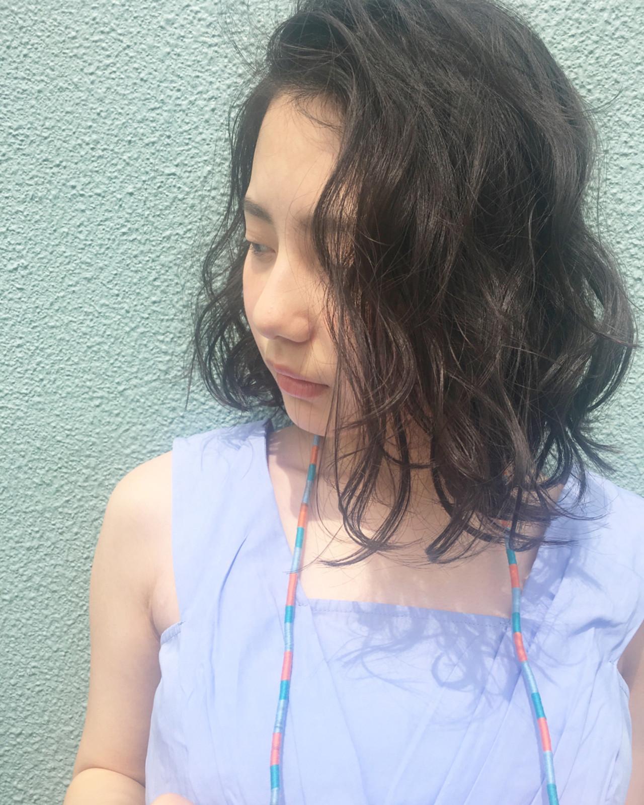 ナチュラル 女子会 リラックス ボブ ヘアスタイルや髪型の写真・画像 | 赤井希望 / joemibyUnami