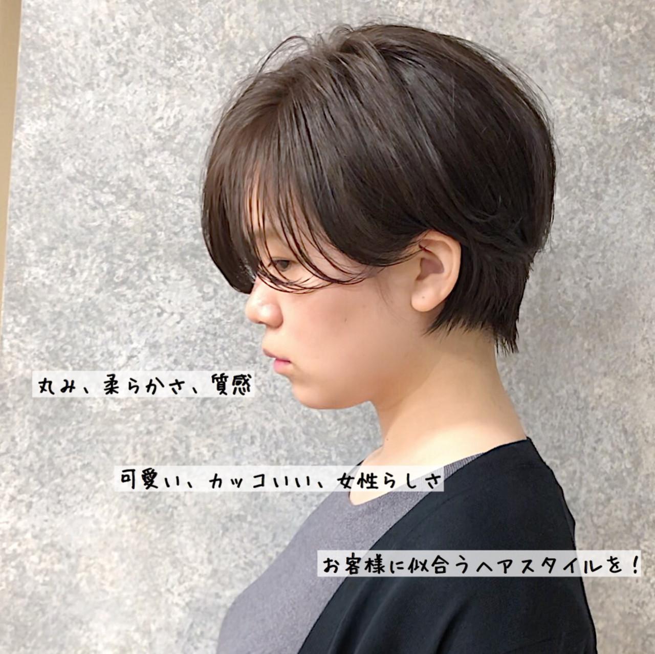 ナチュラル ハンサムショート 大人かわいい マッシュショート ヘアスタイルや髪型の写真・画像   本田 重人 / GRAFF hair