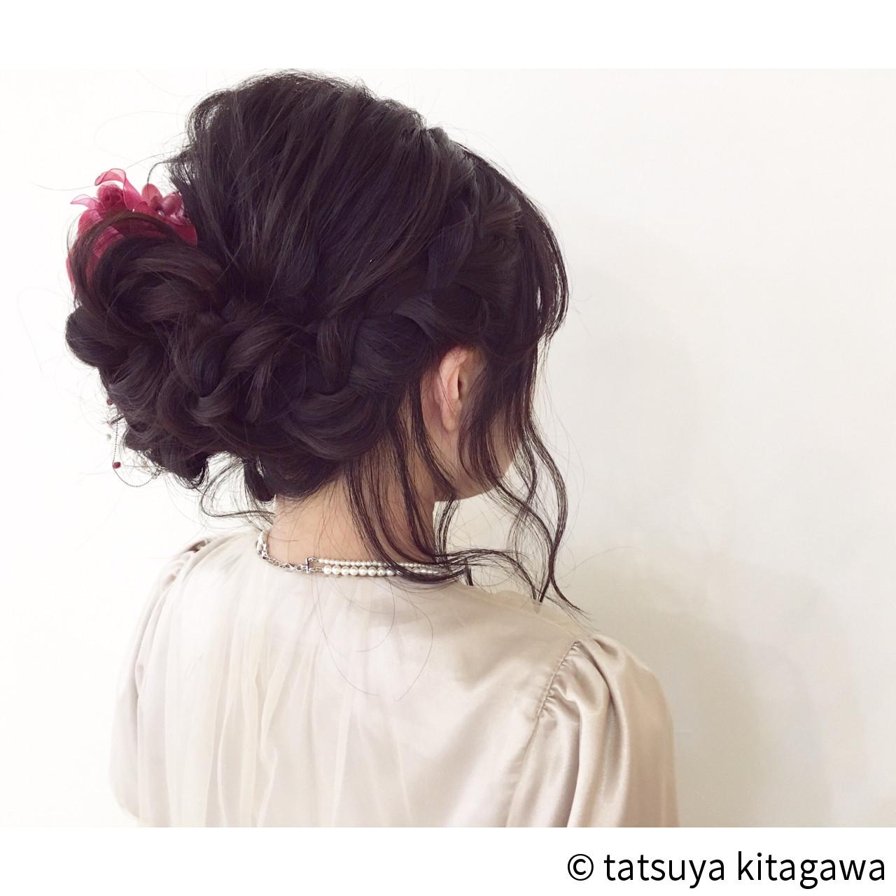 フェミニン アップスタイル 結婚式 ゆるふわ ヘアスタイルや髪型の写真・画像 | tatsuya kitagawa / clarity 京都駅前本店