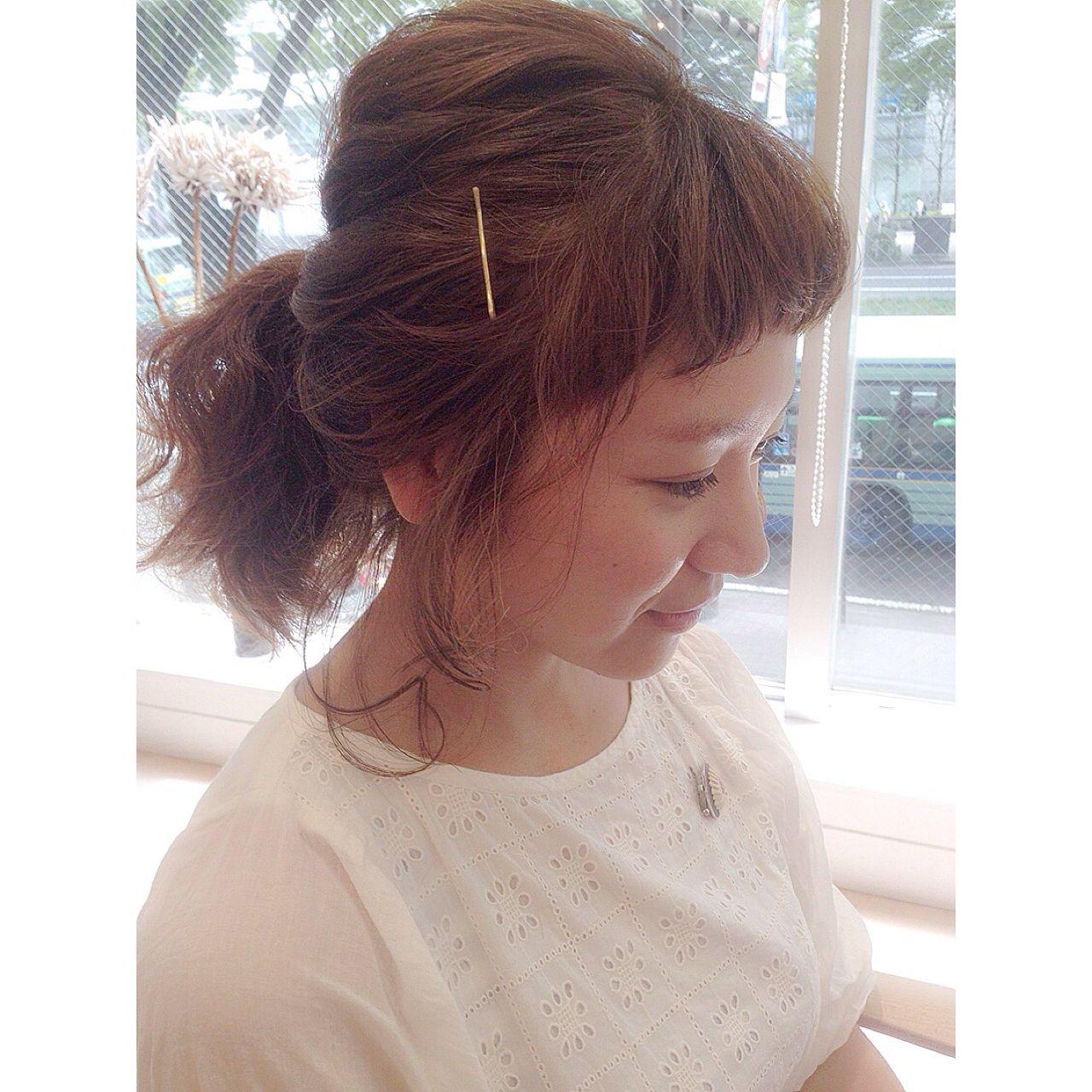 ポニーテール ルーズ ヘアアレンジ ゆるふわ ヘアスタイルや髪型の写真・画像 | GARDENhair マツオカコウイチロウ / GARDENhair