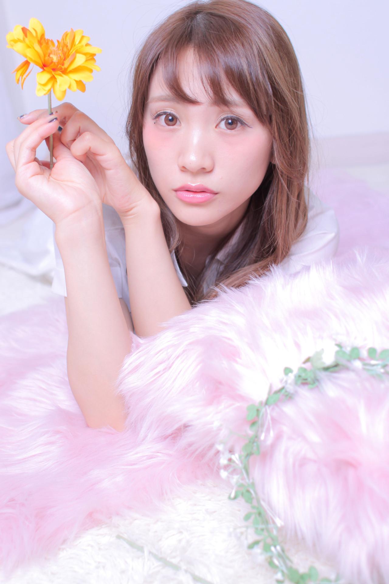 ナチュラル ロング モテ髪 撮影 ヘアスタイルや髪型の写真・画像 | Masayuki Seto / PROS:旭商店街店