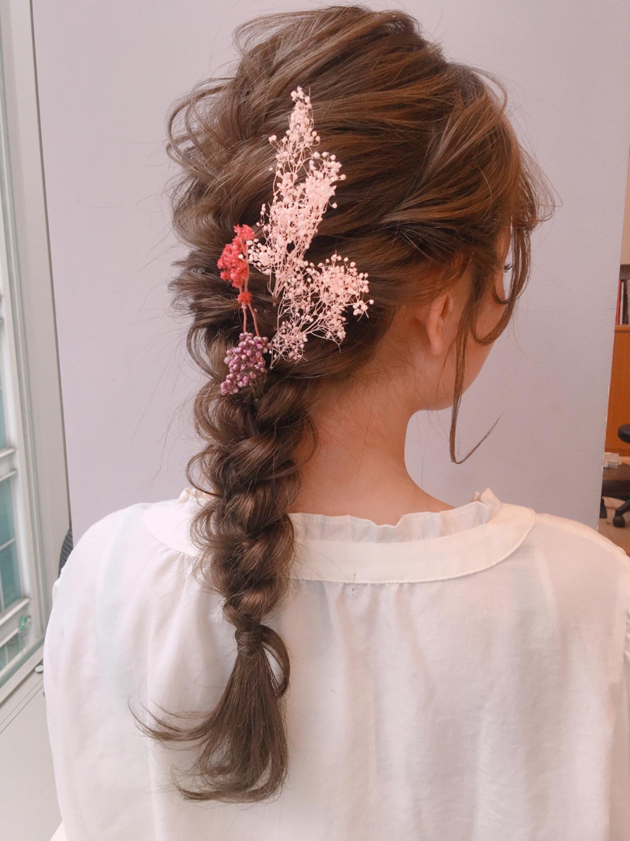 フェミニン デート 結婚式 ロング ヘアスタイルや髪型の写真・画像 | drive for garden 森紫織 / drive for garden