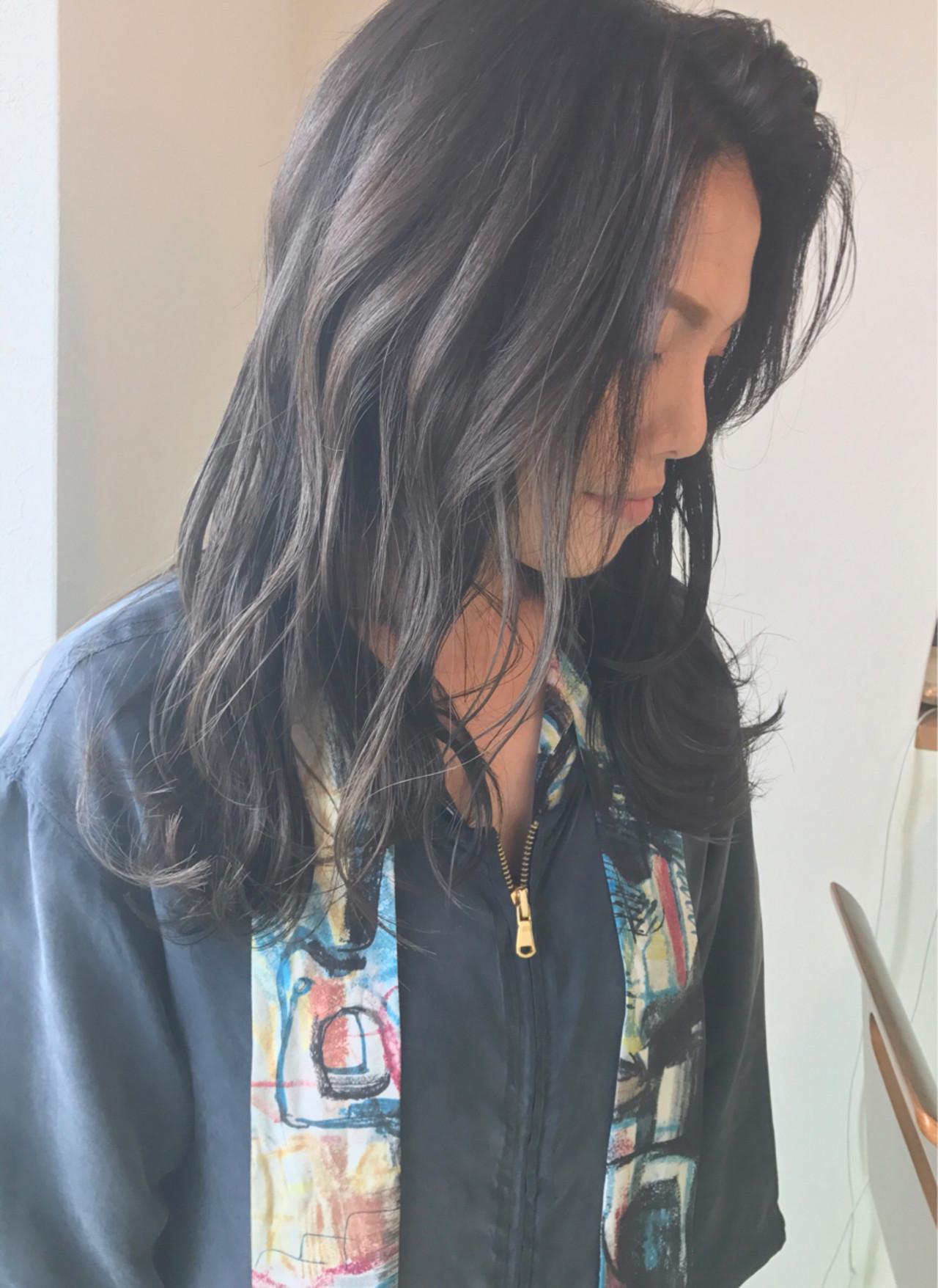 グラデーションカラー 透明感 秋 大人かわいい ヘアスタイルや髪型の写真・画像 | sowi 阿部 辰也 / sowi hair design ソーイ